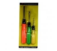 Набор отверток 3 шт, цветные ручки